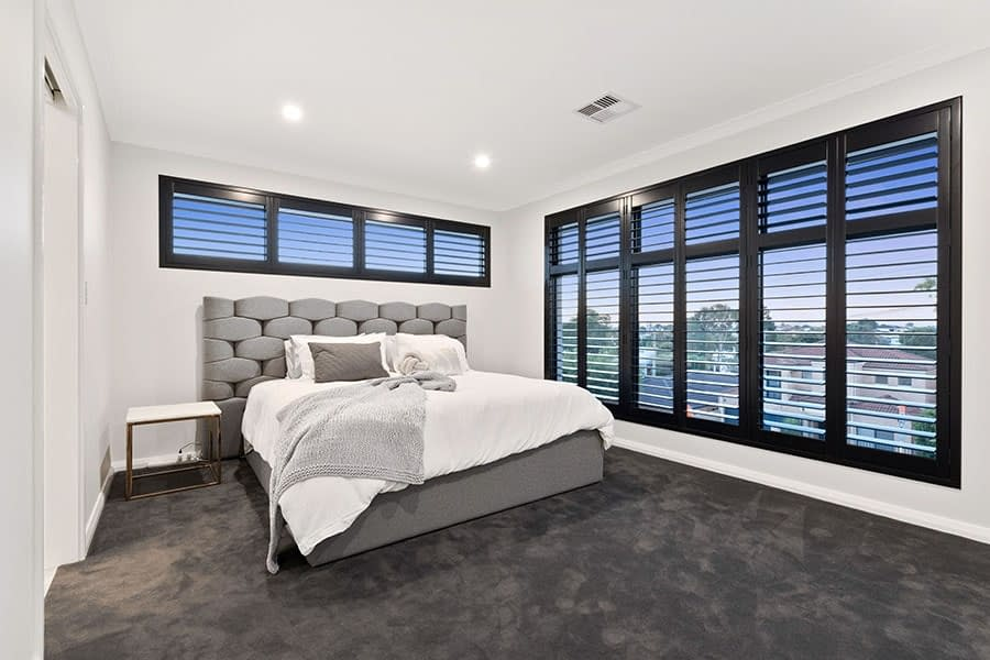Plantation Shutters Master Bedroom