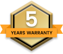 Alfresco 5 Years Warranty Badge